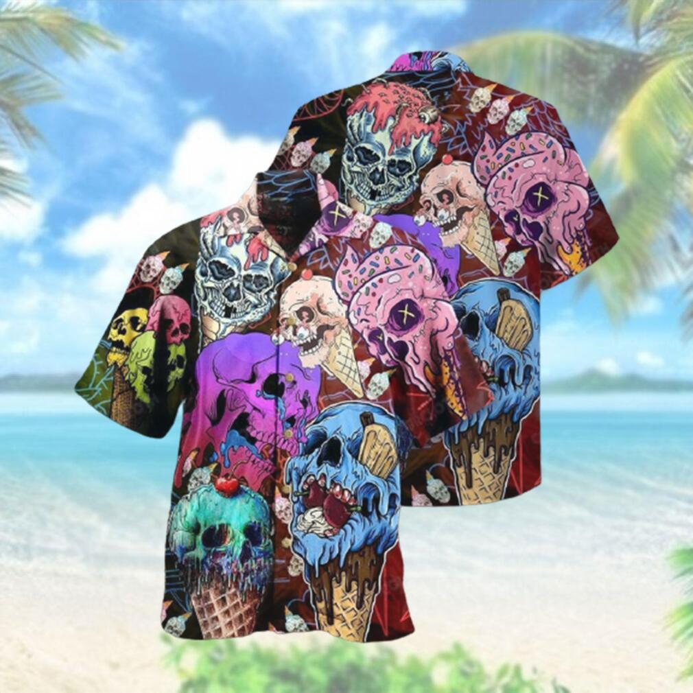 Skull And Ice Cream Hawaiian Hawaiian Shirt
