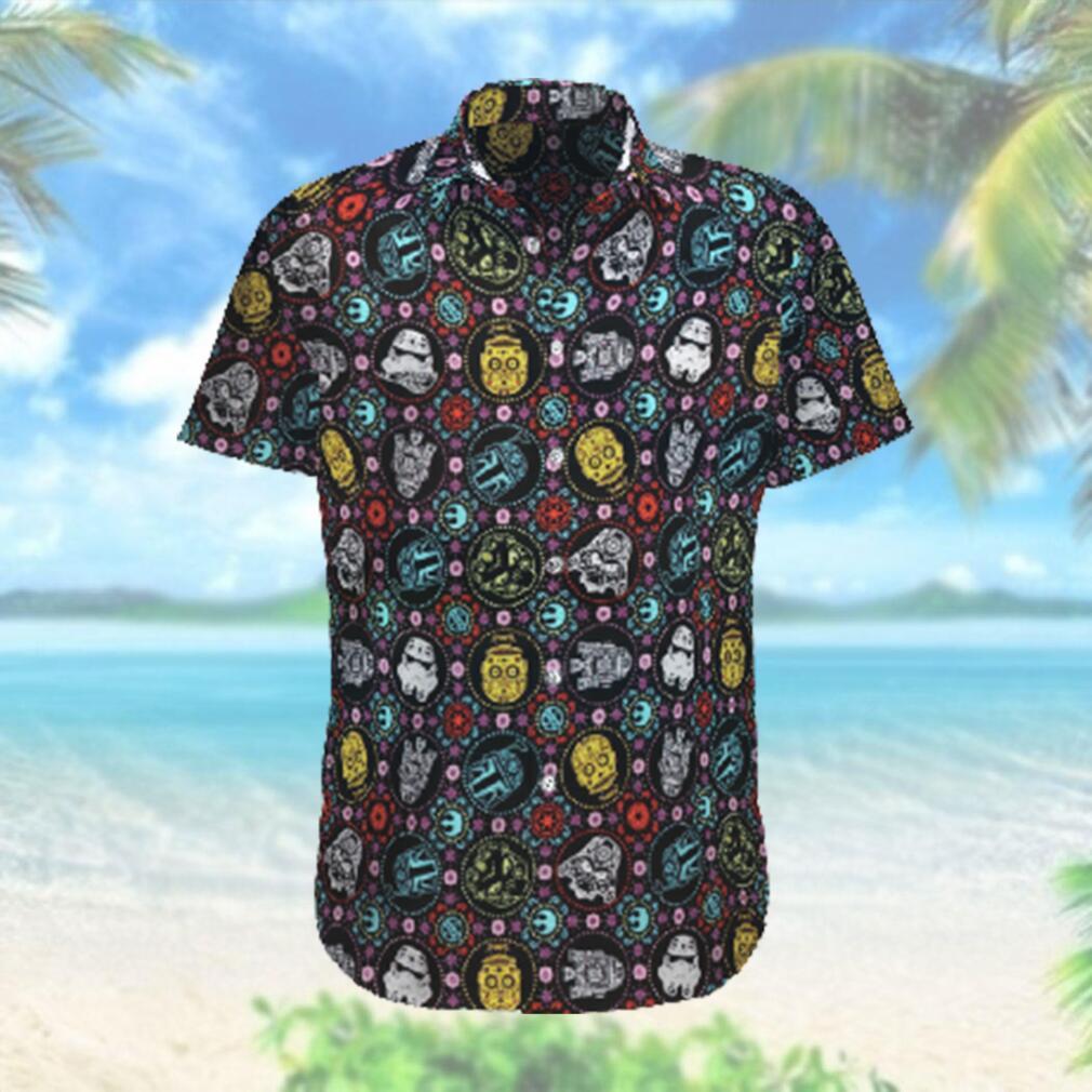 Star wars Face Characters Pattern Hawaiian Hawaiian Shirt