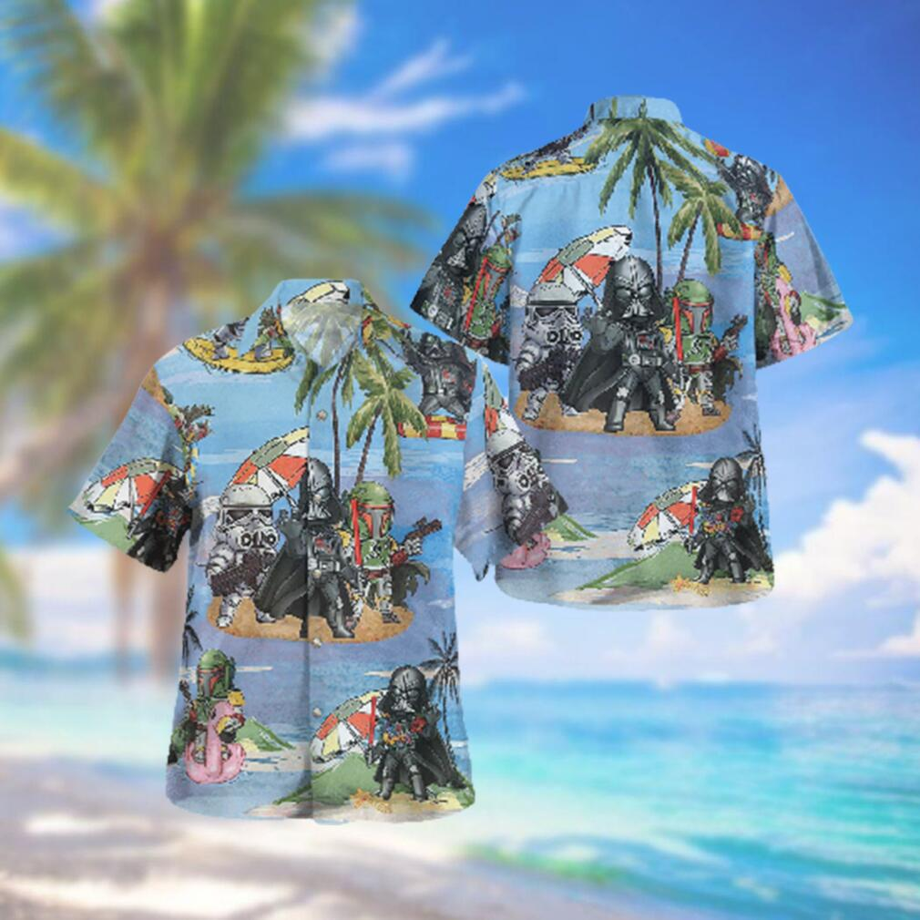 Star wars Vader Stormtrooper Boba Fett Beach Hawaiian Hawaiian Shirt
