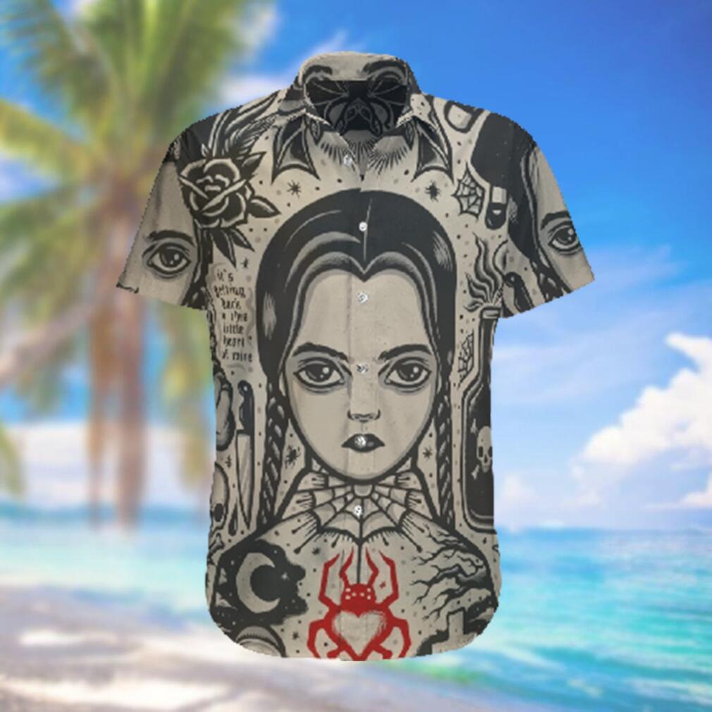 Wednesday Horror Movie Hawaiian Hawaiian Shirt