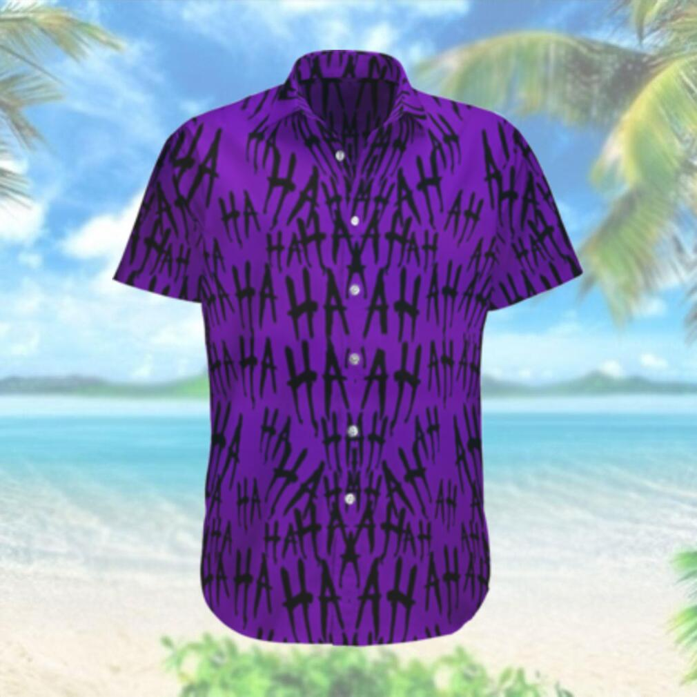 Why so serious Batman Hahaha purple Hawaiian Shirt
