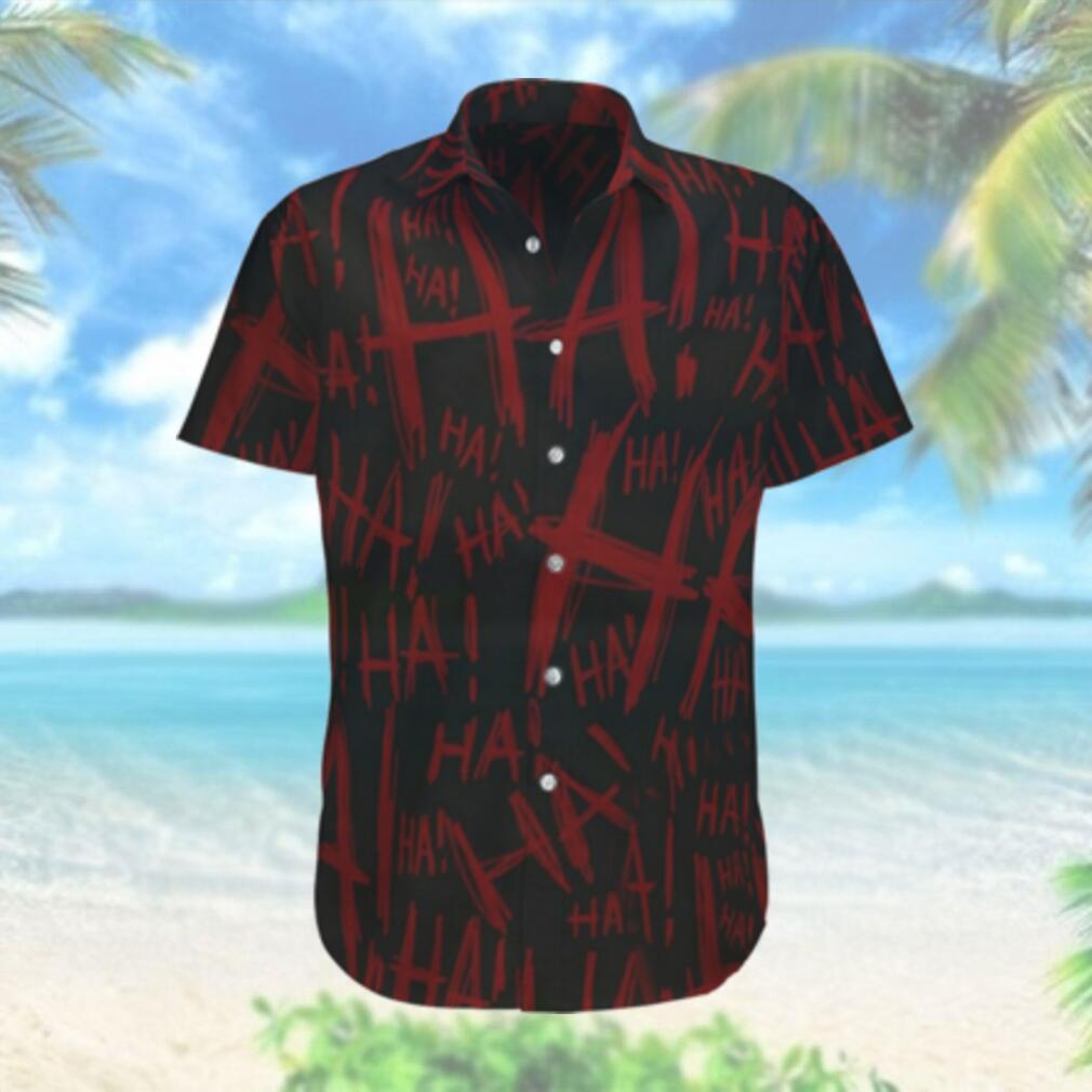 Why so serious Batman Hahaha red and black Hawaiian Shirt