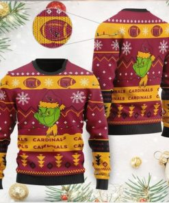 Arizona Cardinals American NFL Football Team Logo Cute Grinch 3D Men And Women Ugly Sweater Shirt For Sport Lovers On Christmas Days