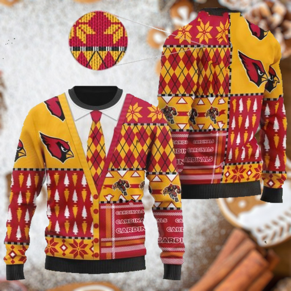 Arizona Cardinals NFL American Football Team Cardigan Style 3D Men And Women Ugly Sweater Shirt For Sport Lovers On Christmas Days