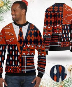 Chicago Bears NFL American Football Team Cardigan Style 3D Men And Women Ugly Sweater Shirt For Sport Lovers On Christmas Days2