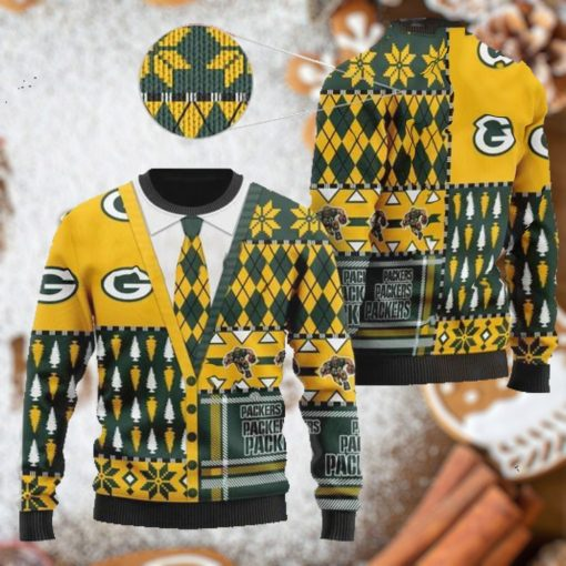 Green Bay Packers NFL American Football Team Cardigan Style 3D Men And Women Ugly Sweater Shirt For Sport Lovers On Christmas Days