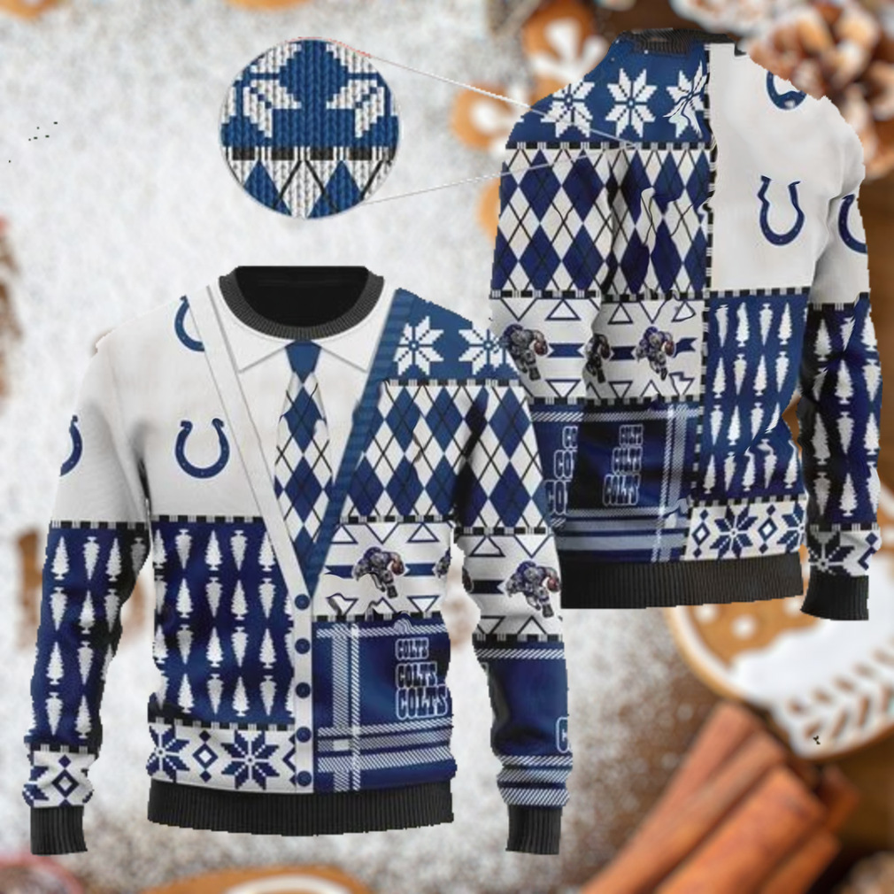 Indianapolis Colts NFL American Football Team Cardigan Style 3D Men And Women Ugly Sweater Shirt For Sport Lovers On Christmas Days