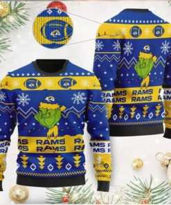 Los Angeles Rams American NFL Football Team Logo Cute Grinch 3D Men And Women Ugly Sweater Shirt For Sport Lovers On Christmas Days