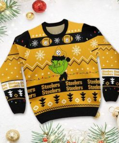 Pittsburgh Steelers American NFL Football Team Logo Cute Grinch 3D Men And Women Ugly Sweater Shirt For Sport Lovers On Christmas Days